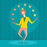 Zakenman het jongleren met met kantoorbenodigdheden Royalty-vrije Stock Afbeeldingen