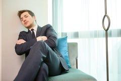 Zakenman in het luxehotel Royalty-vrije Stock Fotografie
