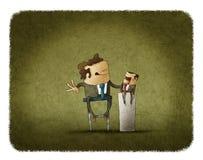 Zakenman het manipuleren marionet stock illustratie