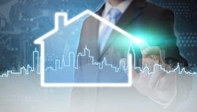 Zakenman immobiliënconcept Stock Afbeeldingen