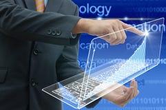 Zakenman, intelligent technologieconcept royalty-vrije stock afbeelding
