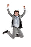 Zakenman Jumping Stock Foto