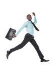 Zakenman Jumping Stock Afbeelding