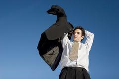 Zakenman in kostuum Stock Fotografie