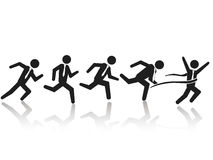 Zakenman lopend ras stock illustratie