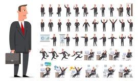 Zakenman of manager de grote reeks van de karakterverwezenlijking Verschillend wedijver Stock Afbeeldingen