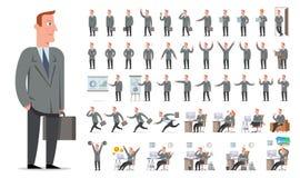 Zakenman of manager de grote reeks van de karakterverwezenlijking Verschillend wedijver Royalty-vrije Stock Foto