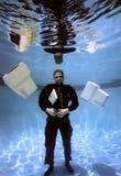 Zakenman in meer dan zijn hoofdDeel 3 Stock Foto's