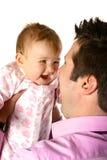 Zakenman met baby Stock Afbeeldingen