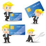Zakenman met creditcard Stock Foto's