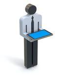 Zakenman met de tablet Royalty-vrije Stock Foto's