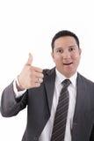 Zakenman met omhoog duim Stock Foto's