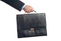 Zakenman met een koffer Royalty-vrije Stock Foto
