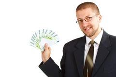 Zakenman met geld Royalty-vrije Stock Afbeeldingen