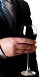 Zakenman met glas wijn royalty-vrije stock afbeelding