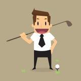 Zakenman met golf Stock Afbeeldingen