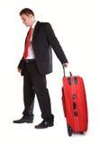 Zakenman met koffer Stock Foto's