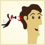 Zakenman met kwaad. royalty-vrije illustratie