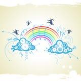Zakenman met regenboog Stock Afbeeldingen