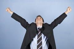Zakenman met succesvolle zaken Stock Foto's