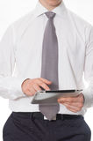 Zakenman met tablet Royalty-vrije Stock Foto's