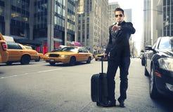Zakenman in New York Stock Foto's