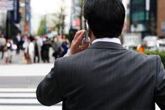 Zakenman op de straat Stock Fotografie