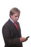 Zakenman op de telefoon Stock Afbeeldingen