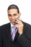 Zakenman op de telefoon Stock Fotografie