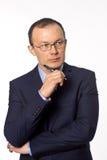 Zakenman op een witte achtergrond Royalty-vrije Stock Foto