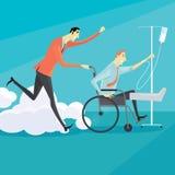 Zakenman op rolstoel Stock Foto's