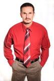 Zakenman in overhemd Stock Foto's
