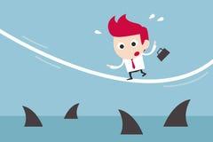 Zakenman in risico Stock Fotografie