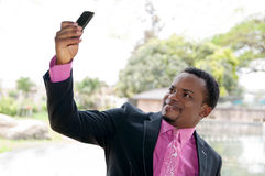 Zakenman selfie Royalty-vrije Stock Afbeelding