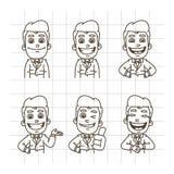 Zakenman Sketch Doodle Part 1 royalty-vrije illustratie