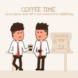 Zakenman twee drinkt koffie royalty-vrije illustratie