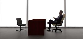 Zakenman Waiting For Client of Vergadering Royalty-vrije Stock Afbeeldingen