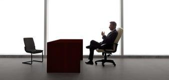 Zakenman Waiting For Client of Vergadering Stock Afbeelding
