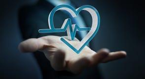 Zakenmanholding en wat betreft het medische pictogram 3D teruggeven Royalty-vrije Stock Fotografie