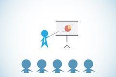 Zakenmanlezing aan zakenlieden, het trainen en bedrijfsconcept royalty-vrije illustratie
