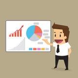 Zakenmanpresentatie aan grafiek Royalty-vrije Stock Foto's