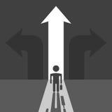 Zakenmansilhouet en pijlen Vector Illustratie