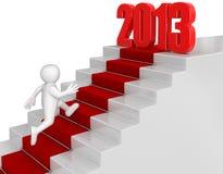 Zakenmanvoorbereidingstijd tot 2013 Royalty-vrije Stock Afbeelding
