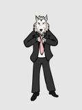 Zakenmanwolf royalty-vrije illustratie