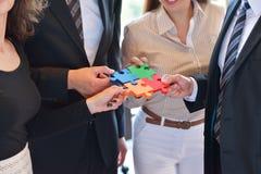 Zakenrelatie Collectief Team Jigsaw Puzzle Concept Stock Fotografie