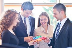 Zakenrelatie Collectief Team Jigsaw Puzzle Concept Royalty-vrije Stock Foto's