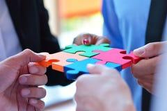 Zakenrelatie Collectief Team Jigsaw Puzzle Concept Royalty-vrije Stock Foto
