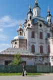 老人和Zakhariya和伊丽莎白教会 Tobolsk 库存图片