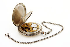 Zakhorloge en horloge-ketting Stock Afbeeldingen