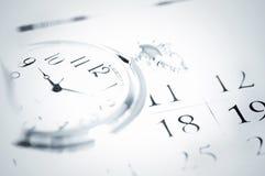 Zakhorloge en kalender Stock Afbeeldingen
